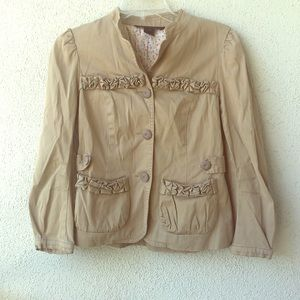 Marc By Marc Jacobs Jackets & Coats - Marc by Marc Jacobs tan ruffle detail blazer